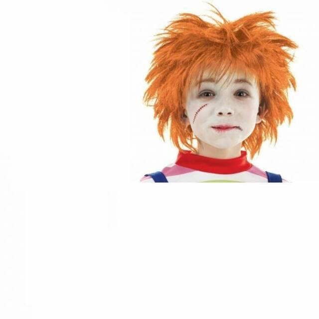 Ginger Chisel Wig 80s Punk Scotsman Mens Adults Fancy Dress Costume Accessory