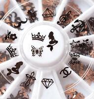 3D Nail Art Rhinestones Glitters Acrylic Tips Decoration Manicure Wheel
