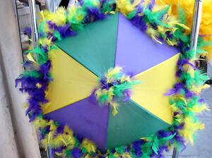 Choose Colors Second Line Umbrella Mardi Gras New Orleans Feather