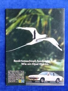 647 Werbeanzeige Reklame Advertisement 1976 __ Rational Opel Manta