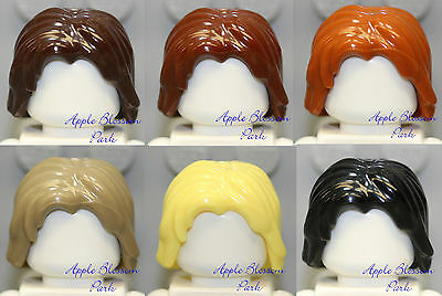 Lego Minifig Hair x 5 Shoulder Tousled Cool Yellow Wigs