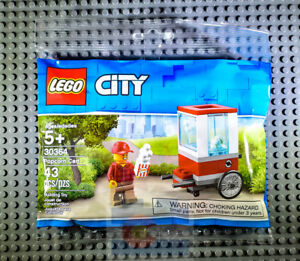 LEGO-City-30364-Popcorn-Cart-NEW-Polybag-Hotdog-Food-Creator-Valentines-Easter