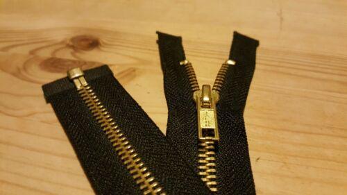 """1 × 24/"""" pouces talon repro Vintage Style Brass Veste Zip-Zipper ** FREE P /& P **"""
