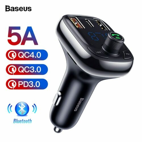 Quick Charge 4.0 FM Transmitter Car Charger For Phone Bluetooth 5.0 Car Kit