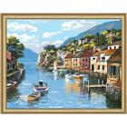Royal Brush Village on the Water Kit & Frame Paint-by-Number Kit