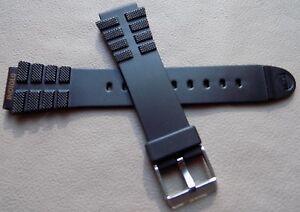 New Mens Timex Indiglo 18mm Orange Logo Rubber Sport Watch Band Fits Digital etc