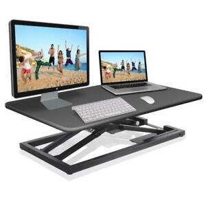 Details about Pyle PDRIS08 Low Profile Sitting / Standing Laptop Computer &  Monitor Desk Stand