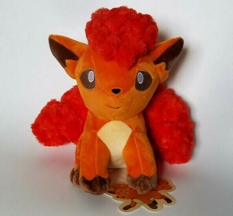 Japanese Pokemon Center 12  fluffy Vulpix large plush doll Fuwa sitting Kanto