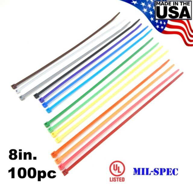 """50 Pcs White 5.5"""" Inch Nylon USA Made Zip Ties Cable Wire Straps 5-1//2 Qty 50"""