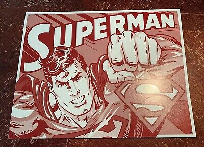 Metal Sign 16 X 12 1 2 Superman Duotone Room Home Wall Poster Tin Sign 1732 605279117321 Ebay