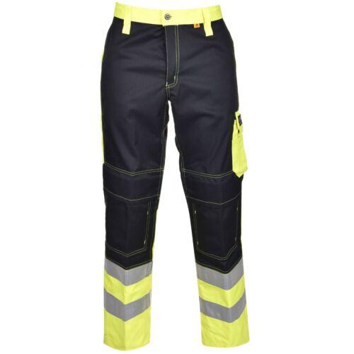 Helly Hansen Watford Hose Gelb Baustelle Warnschutz HI VIS Workwear 76413 50-58