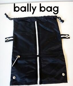 Image Is Loading Bally Toiletry Bag Shoe Nylon Black Men Lady
