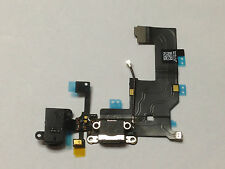 Black iPhone 5 Charging Port Microphone & Headphone Jack Flex Replacement Part