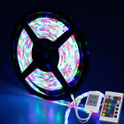 5M SMD 3528 RGB Flexible 300 LED Strip Light Car Lamp DC 12V +24key IR Remote