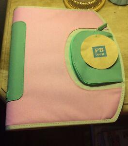 New Pottery Barn Teen Zippered Homework Holder Notebook