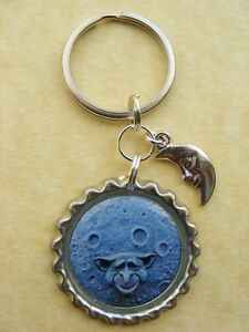 Image Is Loading GOBLIN MOON Bottlecap Keyring Man In The Moon