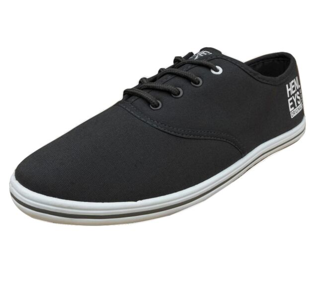 Henleys Men's Stash Canvas Trainers Charcoal