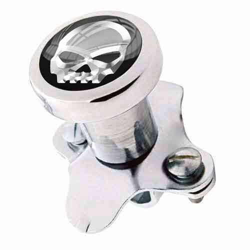 Silver Skull Polished Steering Wheel Spinner Suicide Brody Knob Rod Car Truck