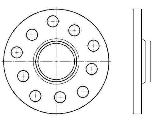 Spurverbreiterungen 10mm LK 5x108mm 5x110mm NLB mit Felgenzentrierung 65,1mm