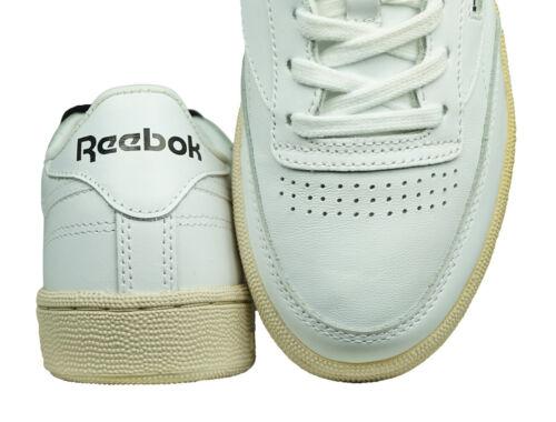 Reebok Club C 85 su pour Femme en Cuir Sport Rétro Fashion Chaussures-Blanc