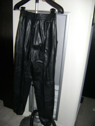 1990 Set gonna 8 di vintage pantaloni Shuchat pelle nera in Taglia Debbie ZZfrpzqw