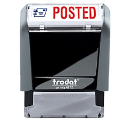"""Trodat 4912  Self-Inking 2 Color Stamp  POSTED 3//4/"""" x 1-7//8/"""" impression"""