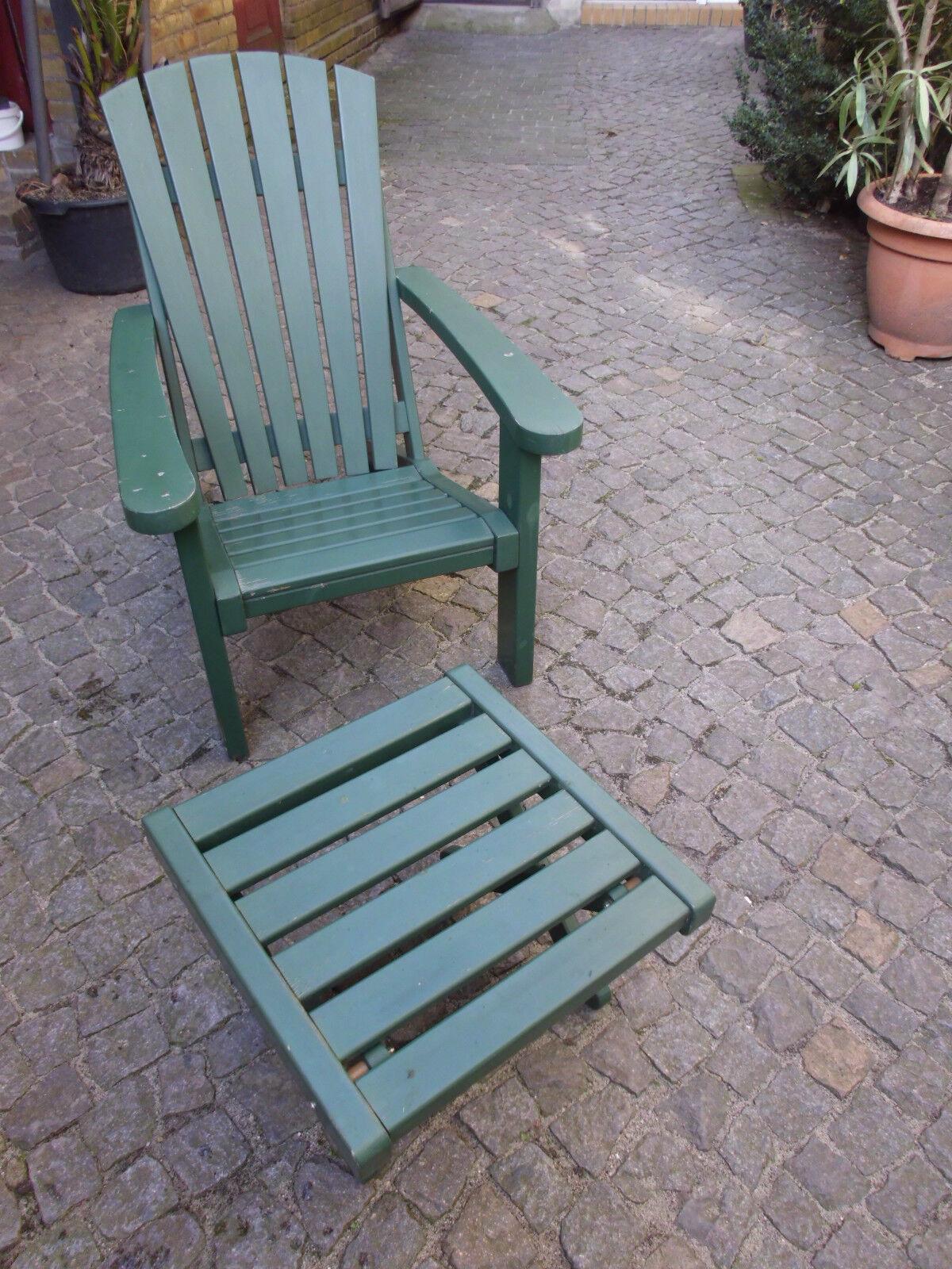 Gebr. Gartengarnitur aus Kiefernholz Beach Chair  Tannengrün endbehandel