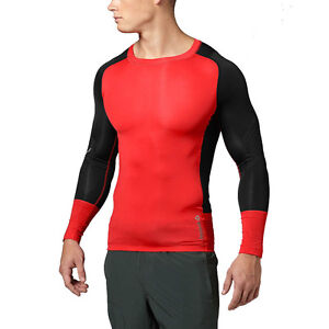 Private: Reebok Men's Crossfit Spartan Compression Top Long Shirt Red Z95105 ...