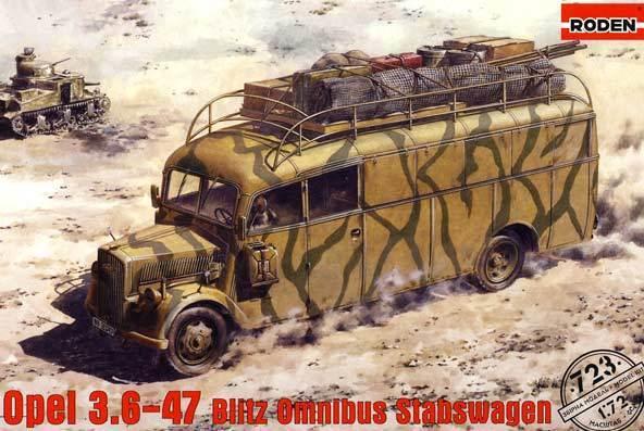 Roden - Opel 3.6-47 Blitz Bus Omnibus Barras Coche Modelo Equipo de Construcción