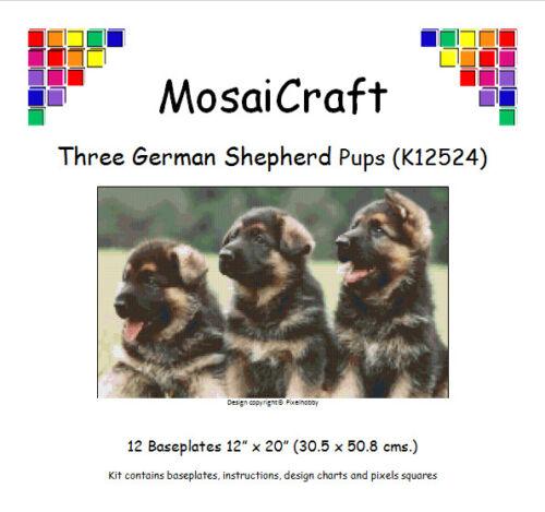 """Kit de mosaico mosaicraft píxel Craft /""""tres Pastor Alemán Cachorros/'s pixelhobby"""