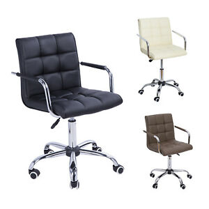 Cool Details About Midback Executive Modern Office Chair Computer Desk Task Pu Leather Swivel Machost Co Dining Chair Design Ideas Machostcouk