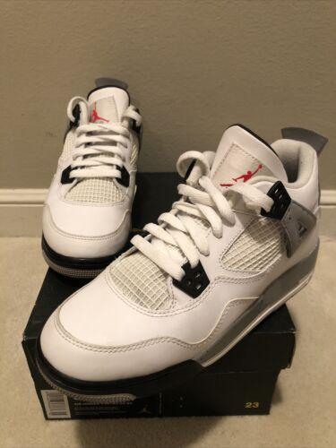 Nike Air Jordan 4 Retro OG BG White Cement 2016 Si