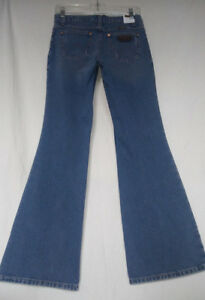 WRANGLER-0-X34-NWT-Womens-Retro-Denim-Western-Distressed-Flare-Jeans-Cowgirl