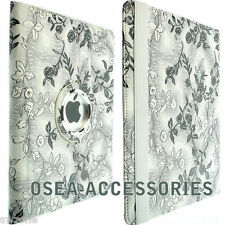 FOR APPLE IPAD 2 & IPAD 3 LEATHER CASE COVER WALLET FLIP 360 ROTATION SOCK SKIN