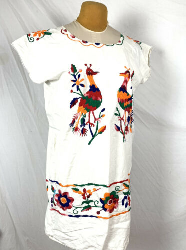 VINTAGE MEXICAN EMBROIDERED Feed sack COTTON Boho
