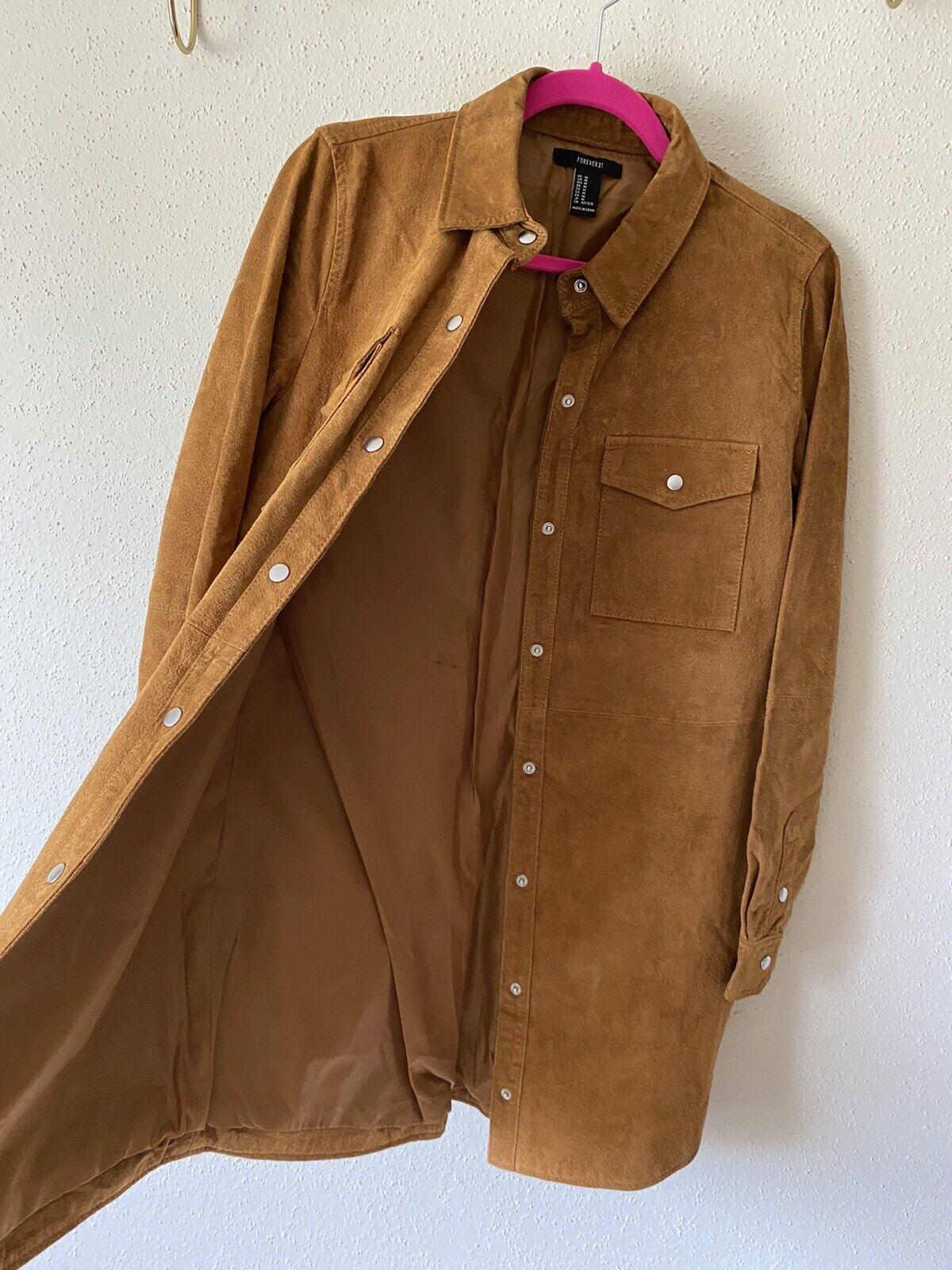 forever 21 leather jacket Shirt Size M - image 4