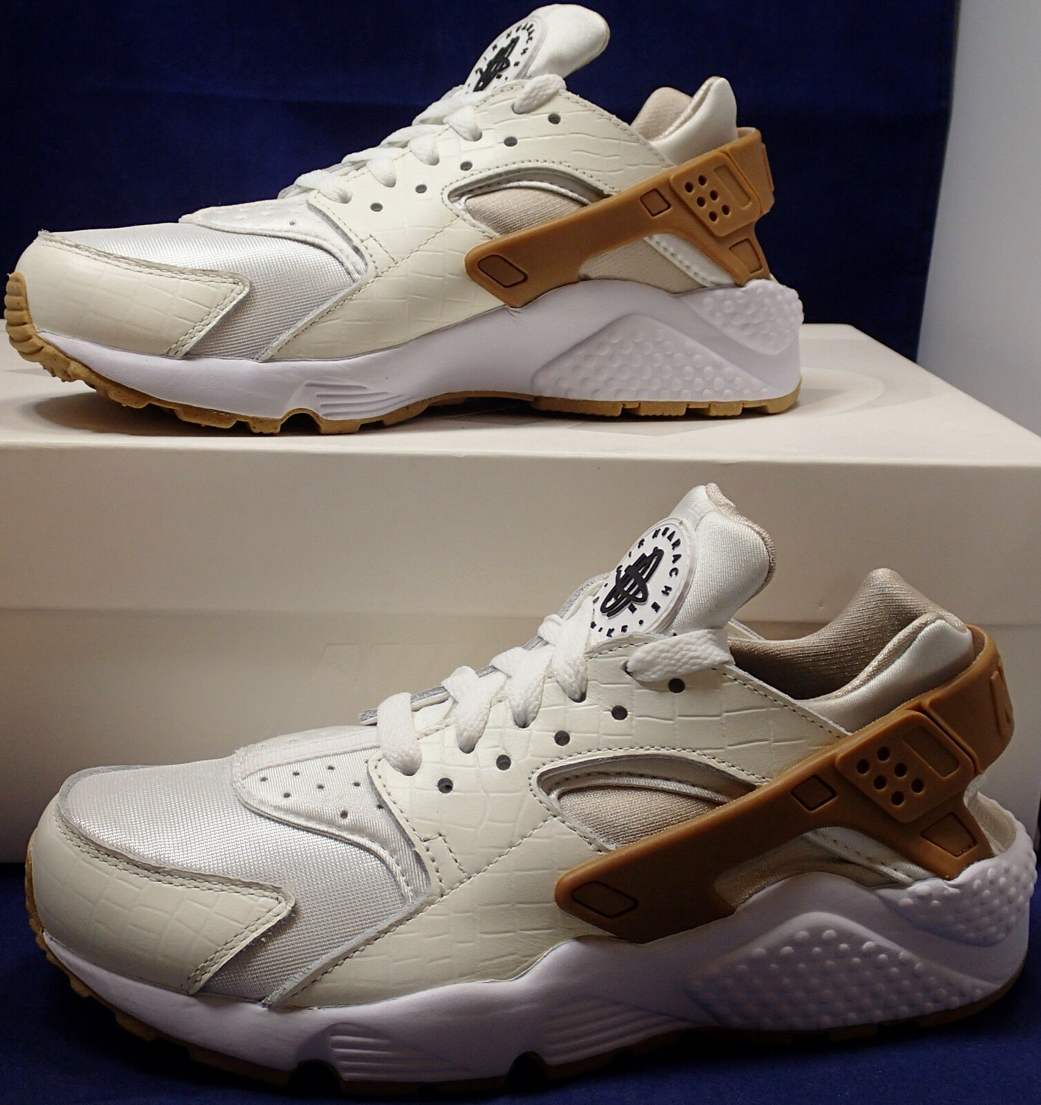 donna Nike Air Huarache Run iD iD iD Croc bianca Marronee Off bianca SZ 6 ( 777331-997 ) 9b7980