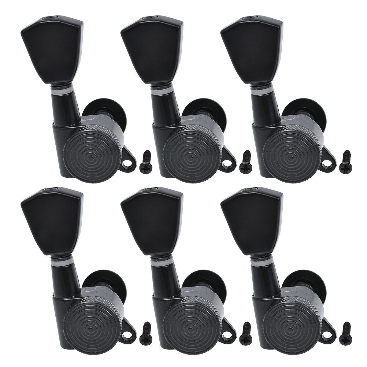 electric guitar string tuning pegs locking tuners keys machine heads black 6r 634458758291 ebay. Black Bedroom Furniture Sets. Home Design Ideas