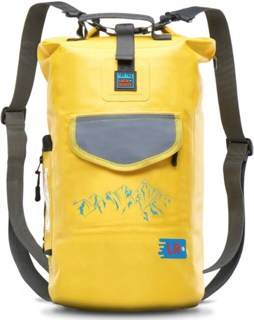 Waterproof Floating Backpack - Dry Bag for Kayaking - Sack for Beach Yellow 20L