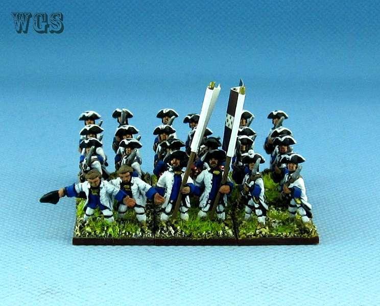 15mm Syw Seven Years War un Pintado francés 13rd Regimiento Real Fa16