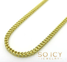 "26"" Inch 4.40 Grams 1.8mm 10k Yellow Gold Box Franco Chain Necklace Mens Ladies"