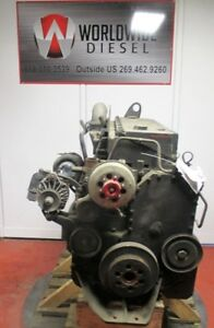 Cummins-L10-Mechanical-Engine-Take-Out-260-HP-Turns-360-Good-For-Rebuild-Only