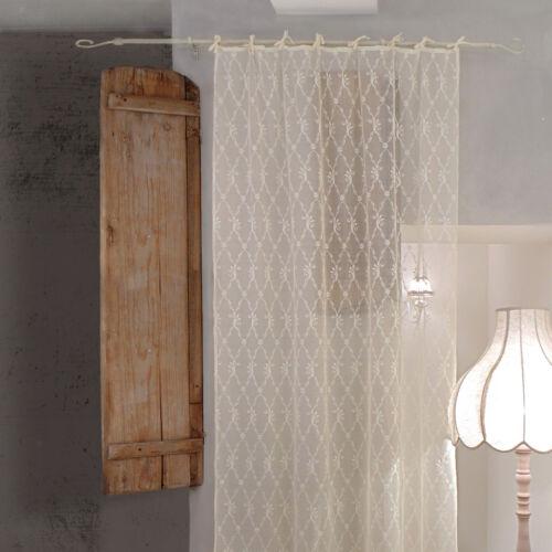 Vorhang Gardine Transparent Schal Gardinenschal Polyester Spitze Landhaus Shab