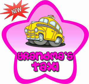 Non-Personalised-Grandma-039-s-Taxi-Star-Shaped-Car-Sign-Like-Baby-on-Board
