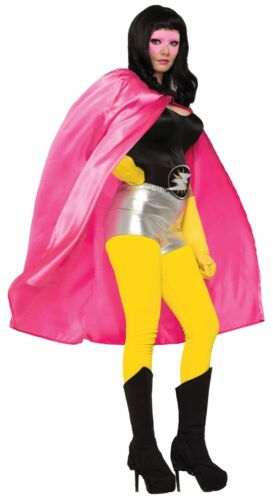 "ADULT SUPERHERO HERO SUPER VILLAIN COSTUME CAPE 44/"" PINK MAGICIAN PHANTOM UNISEX"