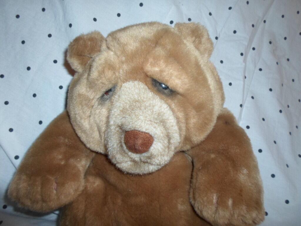 Applause Lou Rankin Hand Puppet 13  Bear Plush Soft Toy Stuffed Animal