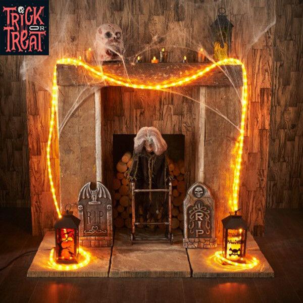 Halloween Orange 4.5m Rope Light Haunted House Party indoor & outdoor Decor