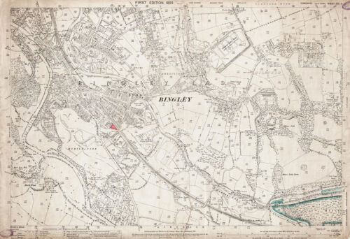 Yorkshire map 201-6-1893 Bingley