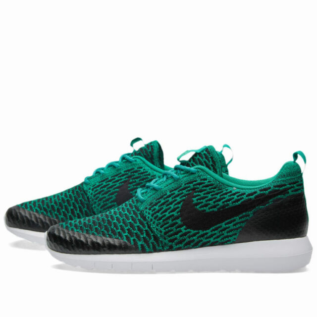 Nike Roshe Run Nm Flyknit Se Green Black Free Sz 10 Mens