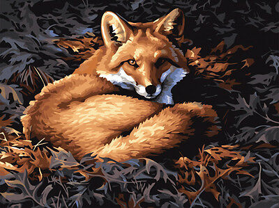 Animal Design Needlepoint Canvas The Red Fox